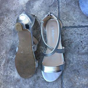 Sabina silver short heels
